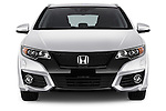 Car photography straight front view of a 2016 Honda Civic Tourer Executive 5 Door Wagon Front View