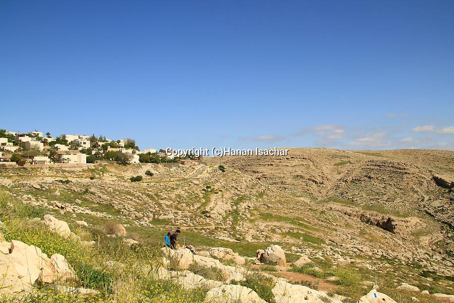 Judean desert, settlement Almon, also known as Anatot overlooking Wadi Qelt