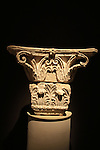 A corinthian capital from Herod's third palace in Jericho, 1st century BC, on display at the Israel Museum