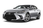 Stock pictures of low aggressive front three quarter view of 2016 Lexus GS 350 4 Door Sedan Low Aggressive