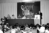 Jean Garon attend the Federation des commissions scholaire du Quebec's convention, June 4, 1995.<br /> <br /> He just died in July 2014.<br /> <br /> File Photo : Agence Quebec Presse - Pierre Roussel