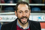 Coach Pablo Machin Diez of Girona FC reacts prior to the La Liga 2017-18 match between FC Barcelona and Girona FC at Camp Nou on 24 February 2018 in Barcelona, Spain. Photo by Vicens Gimenez / Power Sport Images