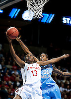 SPOKANE, WA - MARCH 26, 2011: Chiney Ogwumike, Stanford Women's Basketball vs University of North Carolina, NCAA West Regionals on March 26, 2011.