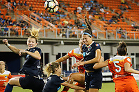 Edinburg, TX - Wednesday September 27, 2017: Ashley Hatch during a regular season National Women's Soccer League (NWSL) match between the Houston Dash and the North Carolina Courage at H-E-B Park.