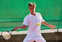 August 9, 2014, Netherlands, Rotterdam, TV Victoria, Tennis, National Junior Championships, NJK,  Alec Dekers (NED)  <br /> Photo: Tennisimages/Henk Koster