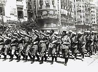 Spain. Civil War. Victory Parade in Valencia (May 3, 1939). Regular troops of the African Army.