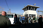Nevada State Prison inmate Willilam Tungate answers media questions as officials move the last handful of inmates out of the historic prison, in Carson City, Nev.,on Monday, Jan. 9, 2012. The 150-year-old facility has been closed by budget cuts..Photo by Cathleen Allison