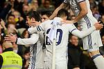 Real Madrid's Marco Asensio, Alvaro Morata and Marco Asensio during Copa del Rey match between Real Madrid and Sevilla FC at Santiago Bernabeu Stadium in Madrid, Spain. January 04, 2017. (ALTERPHOTOS/BorjaB.Hojas)