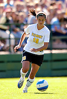 2 September 2007: University of Vermont Catamounts' Gabby Bonfigli, a Freshman from Essex Junction, VT, in  action against the George Washington University Colonials at Historic Centennial Field in Burlington, Vermont. The Colonials rallied to defeat the Catamounts 2-1 in overtime during the TD Banknorth Soccer Classic...Mandatory Photo Credit: Ed Wolfstein Photo