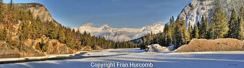 Winter in the Bow River Valley near Banff Alberta. Original file size 80 MB.