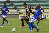 PALMIRA – COLOMBIA, 2-08-2021: Orsomarzo S.C. y Llaneros F.C. durante partido de la fecha 2 por el Torneo BetPlay DIMAYOR II 2021 en el estadio Francisco Rivera Escobar de la ciudad de Palmira. / Orsomarzo S.C.and Llaneros F.C. during a match of the 2 for the BetPlay DIMAYOR II 2021 Tournament at the Francisco Rivera Escobar stadium in Palmira city. Photo: VizzorImage / Samir Rojas / Cont.