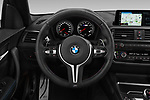 Car pictures of steering wheel view of a 2020 BMW m2 competition Base 2 Door Coupe