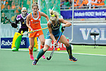 The Hague, Netherlands, June 14: Casey Eastham #4 of Australia in action during the field hockey gold medal match (Women) between Australia and The Netherlands on June 14, 2014 during the World Cup 2014 at Kyocera Stadium in The Hague, Netherlands. Final score 2-0 (2-0)  (Photo by Dirk Markgraf / www.265-images.com) *** Local caption *** (R-L) Casey Eastham #4 of Australia, Marloes Keetels #8 of The Netherlands, Rachael Lynch #27 of Australia