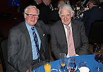 St Johnstone FC Hall of Fame Dinner, Perth Concert Hall….03.04.16<br />Jim Lachlan pictured with his team mate and Hall of Fame Inductee Ron McKinven<br />Picture by Graeme Hart.<br />Copyright Perthshire Picture Agency<br />Tel: 01738 623350  Mobile: 07990 594431