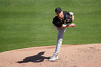 Pittsburgh Pirates pitcher Chad Kuhl (39) during a Major League Spring Training game against the Baltimore Orioles on February 28, 2021 at Ed Smith Stadium in Sarasota, Florida.  (Mike Janes/Four Seam Images)