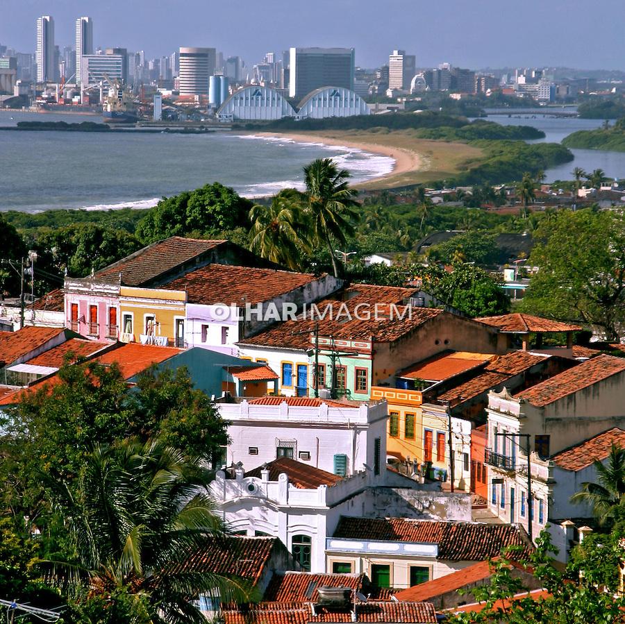 Casas coloniais na cidade de Olinda. Pernambuco. 2011. Foto de Lineu Kohatsu.