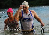 Triathlon - White Swim Caps - Badger State Games '08