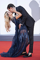 Natalia Paragoni and Andrea Zelletta attending the America Latina Premiere as part of the 78th Venice International Film Festival in Venice, Italy on September 09, 2021. <br /> CAP/MPI/IS/PAC<br /> ©PAP/IS/MPI/Capital Pictures