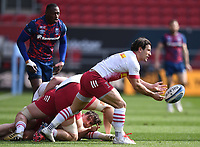 27th March 2021; Ashton Gate Stadium, Bristol, England; Premiership Rugby Union, Bristol Bears versus Harlequins; Danny Care of Harlequins passes from a ruck