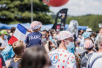 fans at the pre stage team presentation<br /> <br /> Stage 4 from Tours to Chateauroux (160.6km)<br /> 108th Tour de France 2021 (2.UWT)<br /> <br /> ©kramon