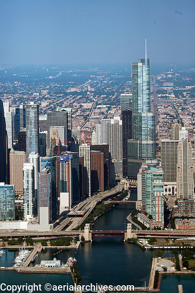 aerial photograph Trump International Hotel and Tower Chicago, Illinois