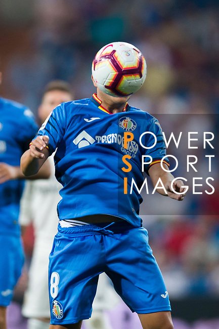 Francisco Portillo Soler of Getafe CF in action during the La Liga 2018-19 match between Real Madrid and Getafe CF at Estadio Santiago Bernabeu on August 19 2018 in Madrid, Spain. Photo by Diego Souto / Power Sport Images