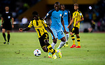 Borussia Dortmund striker Ousmane Dembele (l) fights for the ball with Manchester City midfielder Fernandinho Roza (r) during the 2016 International Champions Cup China match at the Shenzhen Stadium on 28 July 2016 in Shenzhen, China. Photo by Marcio Machado / Power Sport Images