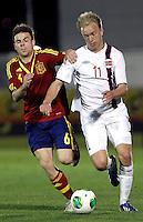 Spain's Illarramendi and Norway's Nielsen during an International sub21 match. March 21, 2013.(ALTERPHOTOS/Alconada) /NortePhoto