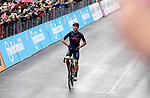 Filippo Ganna (ITA) Ineos Grenadiers wins solo Stage 5 of the 103rd edition of the Giro d'Italia 2020 running 225km from Mileto to Camigliatello Silano, Sicily, Italy. 7th October 2020.  <br /> Picture: LaPresse/Jennifer Lorenzini | Cyclefile<br /> <br /> All photos usage must carry mandatory copyright credit (© Cyclefile | LaPresse/Jennifer Lorenzini)