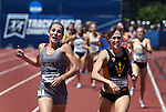 13 JUNE 2015: Rhianwedd Price of Mississippi State beats Shelby Houlihan of Arizona State to the finish line to win the Women's 1500 meters during the Division I Men's and Women's Outdoor Track & Field Championship held at Hayward Field in Eugene, OR. Price won the race in a time of 4:09.56. Steve Dykes/ NCAA Photos