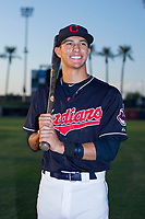 Tyler Freeman (7) of the AZL Indians poses for a photo before a game against the AZL Padres on August 30, 2017 at Goodyear Ball Park in Goodyear, Arizona. (Zachary Lucy/Four Seam Images)