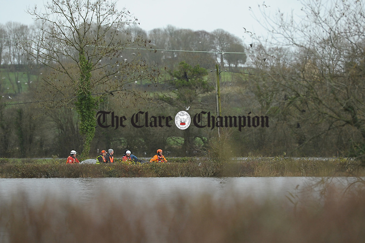 as residents prepare for flooding due to water being released at the Parteen Weir. Photograph by John Kelly.