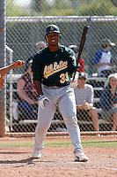 Gabriel Ortiz - Oakland Athletics - 2009 spring training.Photo by:  Bill Mitchell/Four Seam Images