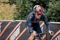 Tom Pidcock (GBR/Ineos Grenadiers) up the Oude Kwaremont<br /> <br /> 105th Ronde van Vlaanderen 2021 (MEN1.UWT)<br /> <br /> 1 day race from Antwerp to Oudenaarde (BEL/264km) <br /> <br /> ©kramon