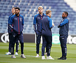23.10.2019 Rangers press conference , Porto: Jermain Defoe chats with Scott Arfield