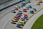 Monster Energy NASCAR Cup Series<br /> GEICO 500<br /> Talladega Superspeedway, Talladega, AL USA<br /> Sunday 7 May 2017<br /> Denny Hamlin, Joe Gibbs Racing, FedEx Express Toyota Camry and Kyle Busch, Joe Gibbs Racing, Skittles Red, White, & Blue Toyota Camry<br /> World Copyright: Nigel Kinrade<br /> LAT Images<br /> ref: Digital Image 17TAL1nk06107