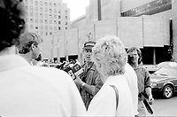 June 7, 1985 File Photo - French actor Jean-Paul Belmondo watch the filming of a scene from the movie HOLD UP