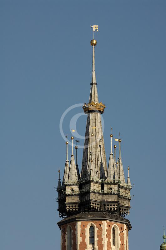 Poland, Krakow, St. Mary's Church, spire