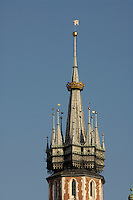 Poland, Krakow, St. Mary's Church, spire