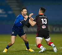 8th January 2021; RDS Arena, Dublin, Leinster, Ireland; Guinness Pro 14 Rugby, Leinster versus Ulster; Dave Kearney of Leinster is tackled by James Hume of Ulster