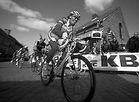 De Ronde van Vlaanderen 2012..Daniel Oss on the Kwaremont