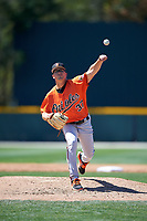 Baltimore Orioles pitcher Alex Wells (37) delivers a pitch during a minor league Spring Training game against the Minnesota Twins on March 17, 2017 at the Buck O'Neil Baseball Complex in Sarasota, Florida.  (Mike Janes/Four Seam Images)