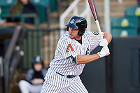 Jackson Generals left fielder Kelly Dugan (25) at bat during a game against the Chattanooga Lookouts on April 27, 2017 at The Ballpark at Jackson in Jackson, Tennessee.  Chattanooga defeated Jackson 5-4.  (Mike Janes/Four Seam Images)