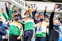 The Indian fans enjoying themselves during India vs New Zealand, ICC World Test Championship Final Cricket at The Hampshire Bowl on 18th June 2021