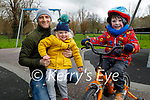 Enjoying the playground  in the Tralee town park on Friday, l to r: Jack Lawlor, Frankie and Billy Benner