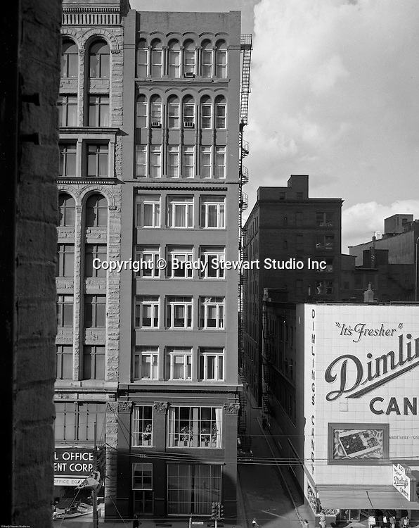 Pittsburgh PA:  View of the Gamble/725 Liberty Avenue building and Dimlings Candy.  Brady Stewart Studio occupied the 4th floor of the Gamble/725 Liberty Avenue building for 25 years.