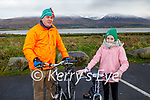 Mark and Elizabeth O'Sullivan ready for a cycle in Lohercanon on Sunday.