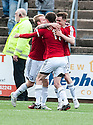 Ayr Utd's Alan Forrest (10) celebrates after he scores their third goal.