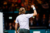 Rotterdam, The Netherlands, 11 Februari 2020, ABNAMRO World Tennis Tournament, Ahoy, <br /> Stefanos Tsitsipas (GRE) celebrates his win.<br /> Photo: www.tennisimages.com