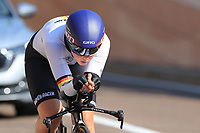 9th September 2021; Trento, Trentino–Alto Adige, Italy: 2021 UEC Road European Cycling Championships, Womens Individual time trials:  Lisa KLEIN (GER)